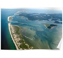 Chatham, Cape Cod Aerial Photo of New Break Poster