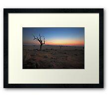 Dusk on the plains Framed Print