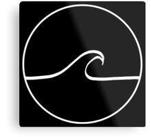 Minimal Wave - Black Metal Print