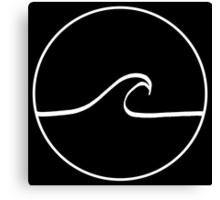 Minimal Wave - Black Canvas Print