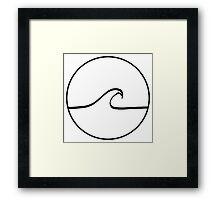 Minimal Wave - Clear background Framed Print