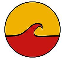 Minimal Wave - Red/Yellow Photographic Print