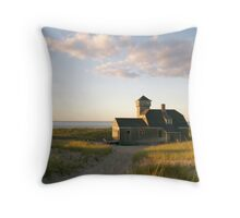 Old Harbor Life Saving Station (Provincetown, Cape Cod) Throw Pillow