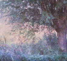 Blue Willow. Monet Style  by JennyRainbow