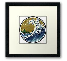 Japanese wave Framed Print