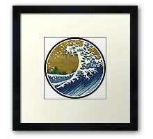Japanese wave Framed Print