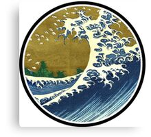 Japanese wave Canvas Print