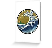 Japanese surf wave Greeting Card