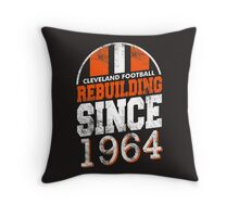 Cleveland Football Rebuilding Throw Pillow