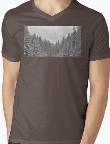 snow forest  Mens V-Neck T-Shirt