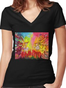 FAIRIES OF DAWN Women's Fitted V-Neck T-Shirt