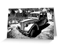 1946 Austin 8 Greeting Card