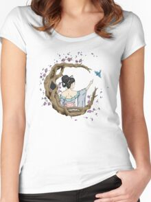 Among the Blossoms. Women's Fitted Scoop T-Shirt