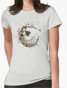 Among the Blossoms. Womens Fitted T-Shirt