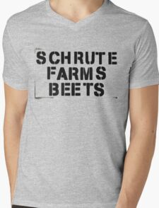 SCHRUTE FARMS BEETS Mens V-Neck T-Shirt