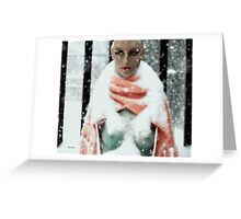 Snow Woman  Greeting Card