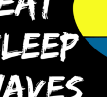 Eat sleep waves repeat Sticker