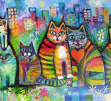 Urban Cats by Karin Zeller