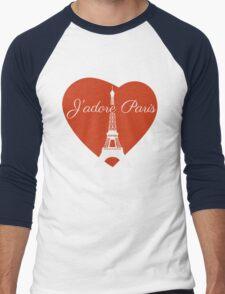 J'adore Paris Men's Baseball ¾ T-Shirt