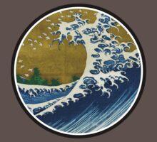 Japanese surf wave Kids Clothes