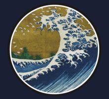 Japanese surf wave Kids Tee