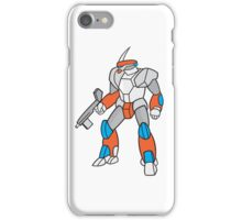 Mecha Robot Holding Ray Gun Isolated iPhone Case/Skin