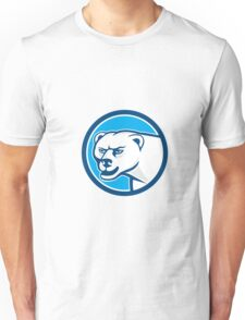 Polar Bear Head Circle Cartoon Unisex T-Shirt