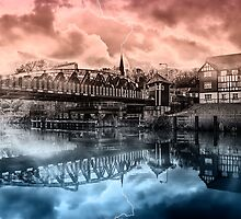 Northwich Cheshire - splash of colour 2 by outlawalien