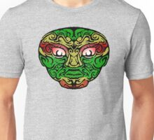 Tribal Face in Red Gold & Green Unisex T-Shirt