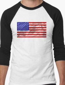 USA Flag Men's Baseball ¾ T-Shirt