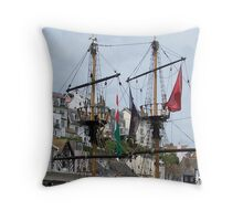 Pirate Ship Crows Nests Throw Pillow