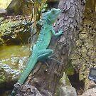 Cheeky Green Lizard by karenuk1969