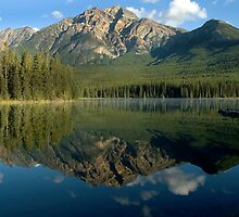 Pyramid Lake, Canadian Rockies by Frank Alvaro