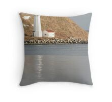 St George's Island Lighthouse Throw Pillow
