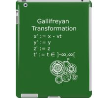 Gallifreyan Transformation 2 iPad Case/Skin