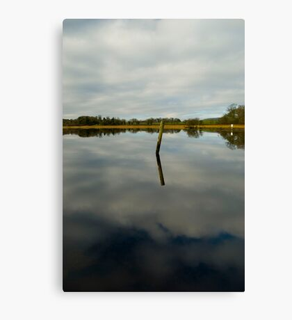 Post in Water Canvas Print
