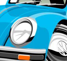 VW Beetle blue Sticker