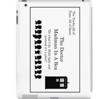 Doctor's Card iPad Case/Skin
