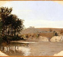 Louis-Leopold Boilly - View of a Lake by Adam Asar