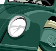 Volkswagen Beetle type 1 green Sticker