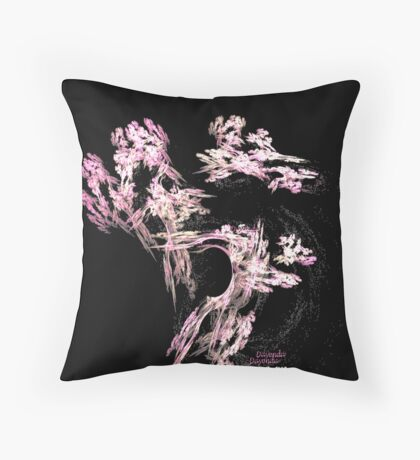 The ANCIENT PLUM TREE Throw Pillow