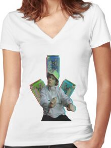 Arizona Yung Lean Women's Fitted V-Neck T-Shirt