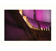 Purple Abstract Hong Kong Cultural Centre Art Print