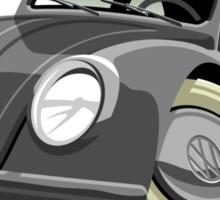 VW Beetle type 1 grey caricature Sticker