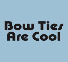 Bow Ties Are Cool - Bow Tie Dr Who Inspired T-Shirt by deanworld