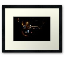 Night Taxi Framed Print