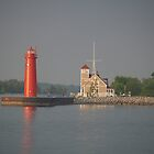 Muskegon, Michigan Coast Guard Station by BarbL