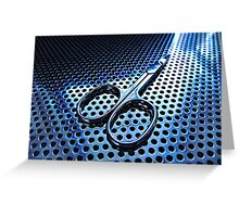Blue Sharp Greeting Card