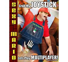 SexyMario MEME - Grab My Joystick, Lets Play Multiplayer! 1 Photographic Print