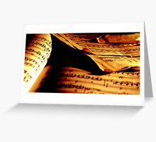 music paper Greeting Card
